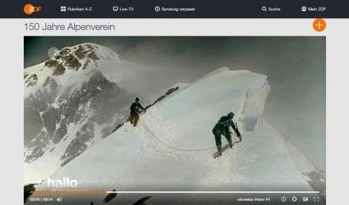 Artikelbild zu Artikel ZDF: 150 Jahre Alpenverein